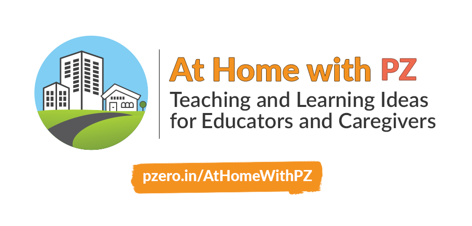 At Home with PZ image. Small icon showing various types of homes.